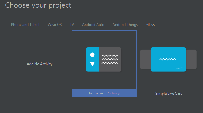 Android Studio SDK settings for glass